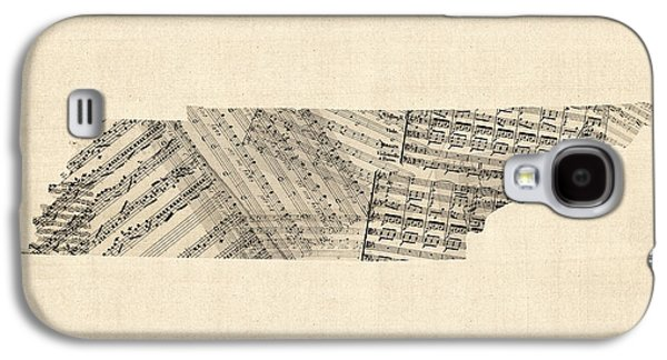 Tennessee Map Sheet Music Galaxy S4 Case