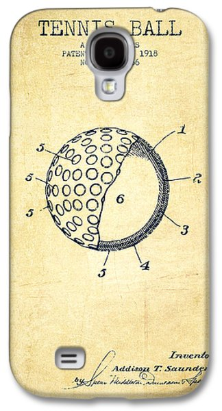Tennis Ball Patent From 1918 - Vintage Galaxy S4 Case by Aged Pixel