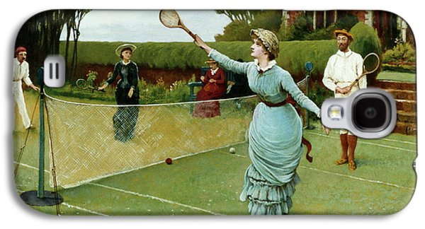 Tennis Players, 1885 Galaxy S4 Case by Horace Henry Cauty