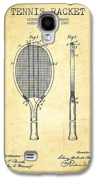Tennis Racket Patent From 1907 - Vintage Galaxy S4 Case by Aged Pixel