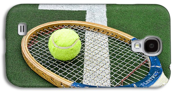 Tennis - Wooden Tennis Racquet Galaxy S4 Case by Paul Ward