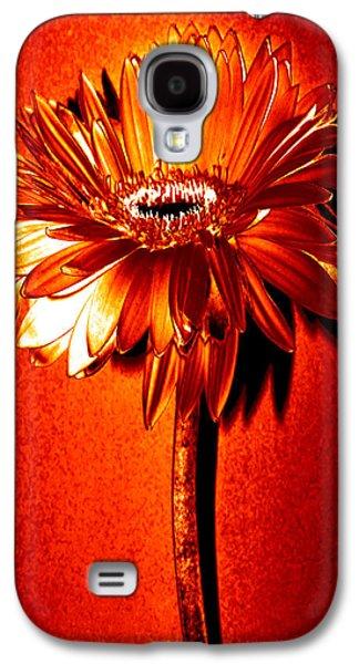 Tequila Sunrise Zinnia Galaxy S4 Case by Sherry Allen