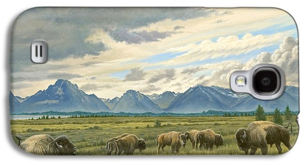 Tetons-buffalo  Galaxy S4 Case by Paul Krapf