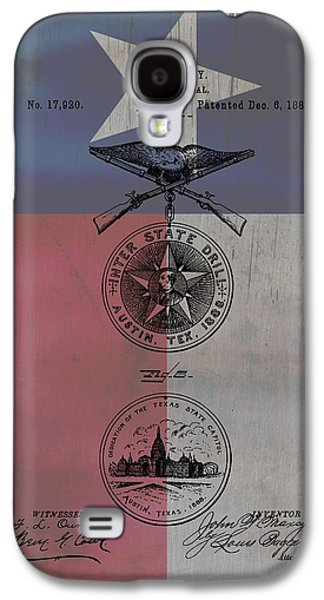 Texas Badge Patent On Texas Flag Galaxy S4 Case