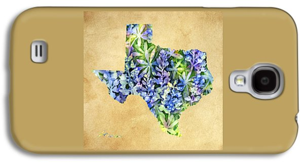 Texas Blues Texas Map Galaxy S4 Case by Hailey E Herrera