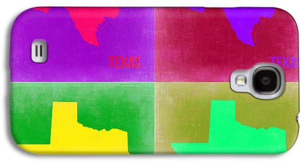 Texas Pop Art Map 2 Galaxy S4 Case by Naxart Studio
