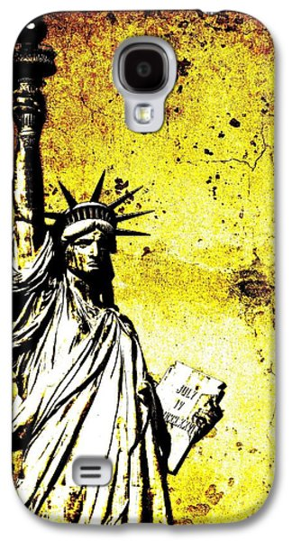 Textured Statue Of Liberty Galaxy S4 Case
