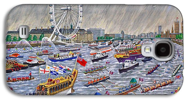 Thames Diamond Jubilee Pageant  Galaxy S4 Case by Ronald Haber