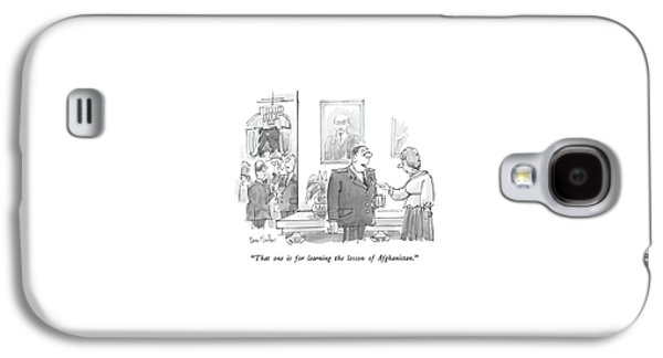That One Is For Learning The Lesson Galaxy S4 Case by Dana Fradon