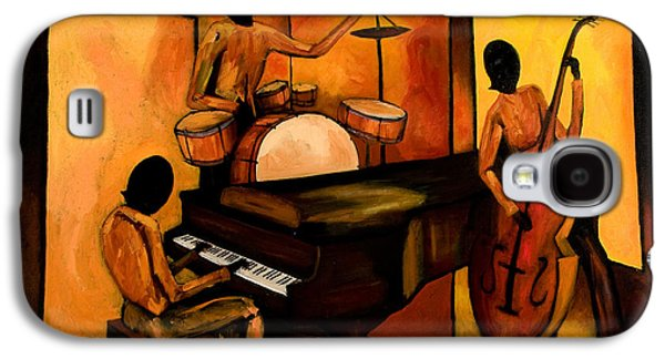 Drum Galaxy S4 Case - The 1st Jazz Trio by Larry Martin