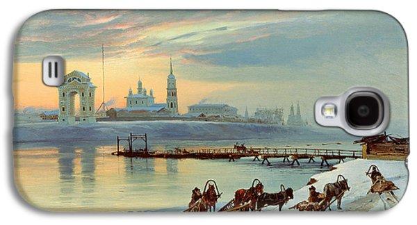 The Angara Embankment In Irkutsk Galaxy S4 Case by Nikolai Florianovich Dobrovolsky