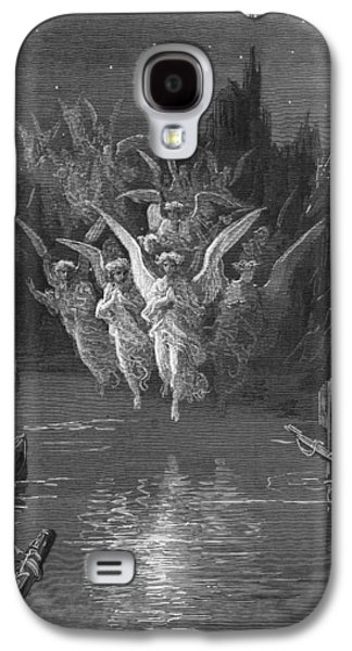 The Angelic Spirits Leave The Dead Bodies And Appear In Their Own Forms Of Light Galaxy S4 Case by Gustave Dore