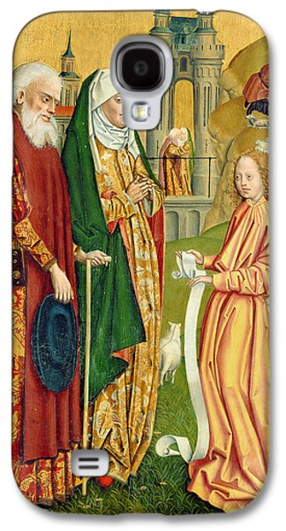 The Annunciation To Joachim And Anne, From The Dome Altar, 1499 Galaxy S4 Case by Absolon Stumme