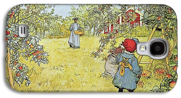 The Apple Harvest Galaxy S4 Case by Carl Larsson