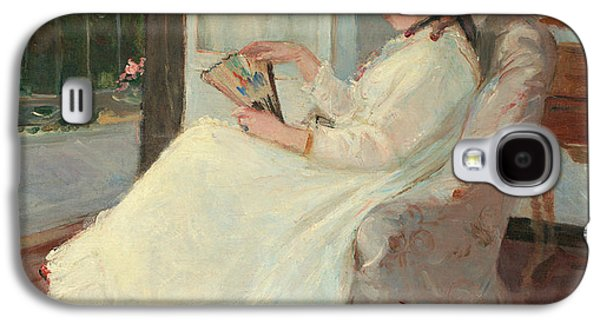The Artist's Sister At A Window Galaxy S4 Case by Berthe Morisot