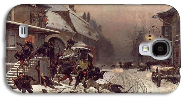 The Attack At Dawn Galaxy S4 Case by Alphonse Marie De Neuville
