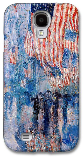 The Avenue In The Rain Galaxy S4 Case by Frederick Childe Hassam