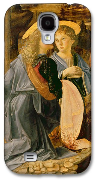 Detail Of The Baptism Of Christ By John The Baptist Galaxy S4 Case by Andrea Verrocchio