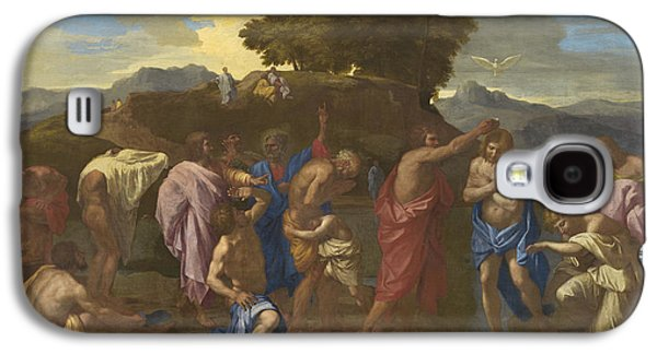 The Baptism Of Christ Galaxy S4 Case by Nicolas Poussin