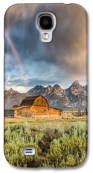 The Barn At The End Of The Rainbow Galaxy S4 Case by Andres Leon