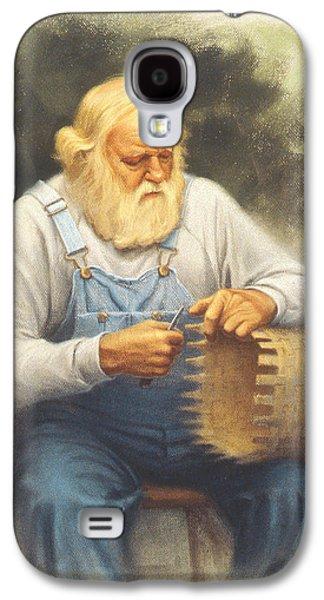 The Basketmaker In Pastel Galaxy S4 Case by Paul Krapf