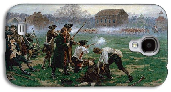 The Battle Of Lexington, 19th April 1775 Galaxy S4 Case by William Barnes Wollen