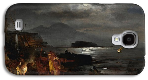 The Bay Of Naples In The Moonlight  Galaxy S4 Case