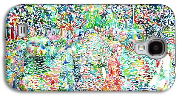The Beatles - Abbey Road - Watercolor Painting Galaxy S4 Case