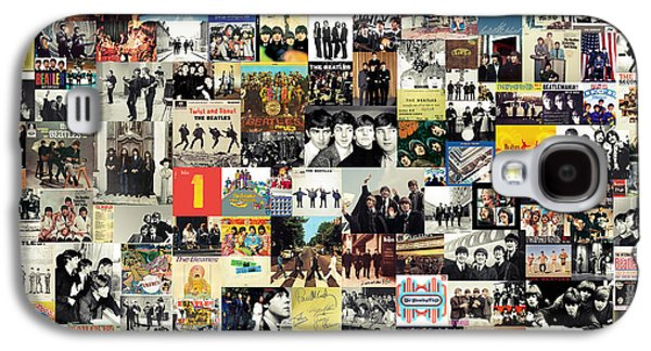 Musicians Galaxy S4 Case - The Beatles Collage by Zapista