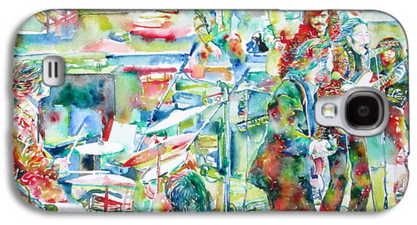 The Beatles Rooftop Concert - Watercolor Painting Galaxy S4 Case