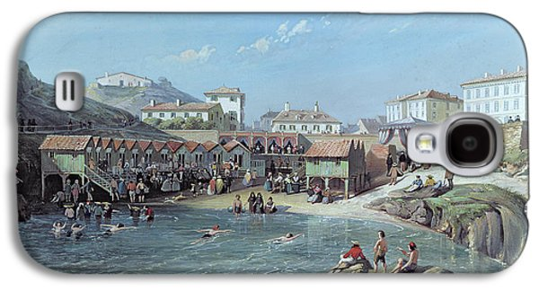 The Beginning Of Sea Swimming In The Old Port Of Biarritz  Galaxy S4 Case