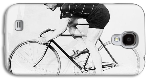 Bicycle Galaxy S4 Case - The Bicyclist - 1914 by Daniel Hagerman