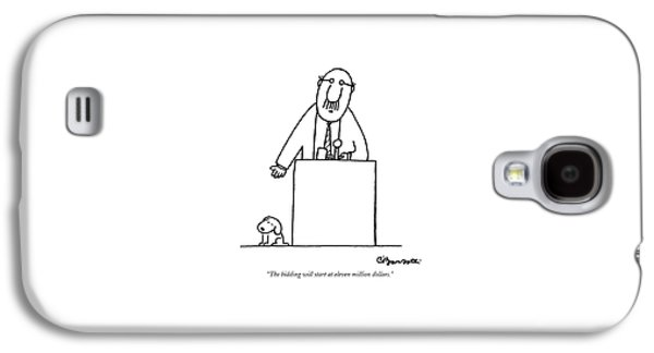 The Bidding Will Start At Eleven Million Dollars Galaxy S4 Case by Charles Barsotti