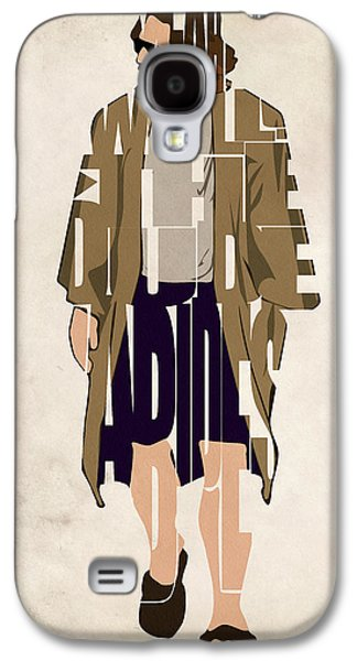 The Big Lebowski Inspired The Dude Typography Artwork Galaxy S4 Case by Ayse Deniz