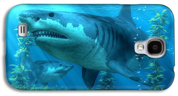 The Biggest Shark Galaxy S4 Case by Daniel Eskridge
