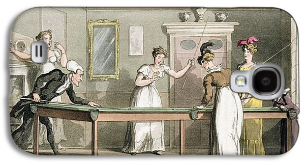 The Billiard Table, From The Tour Of Dr Galaxy S4 Case by Thomas Rowlandson