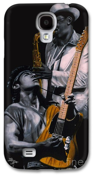 Bruce Springsteen Galaxy S4 Case - Bruce Springsteen And Clarence Clemons by Thomas J Herring