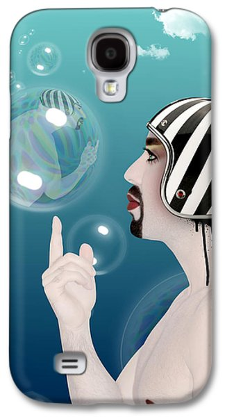 the Bubble man Galaxy S4 Case by Mark Ashkenazi