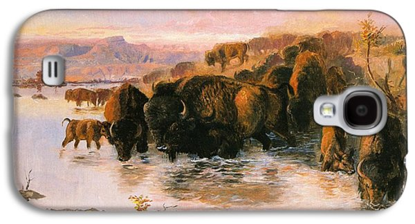The Buffalo Herd Galaxy S4 Case by Charles Russell