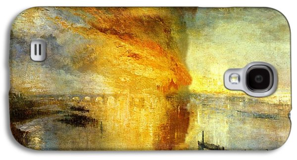 The Burning Of The Houses Of Lords And Commons Galaxy S4 Case by Celestial Images