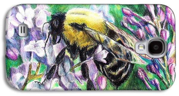 The Busy Bee And The Lilac Tree Galaxy S4 Case by Shana Rowe Jackson