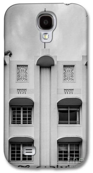 The Carlyle Art Deco Detail South Beach Miami - Black And White Galaxy S4 Case by Ian Monk