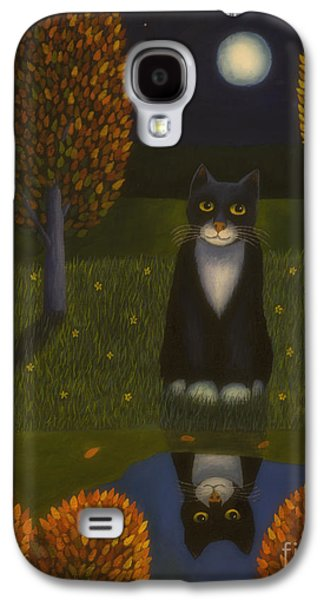 The Cat And The Moon Galaxy S4 Case