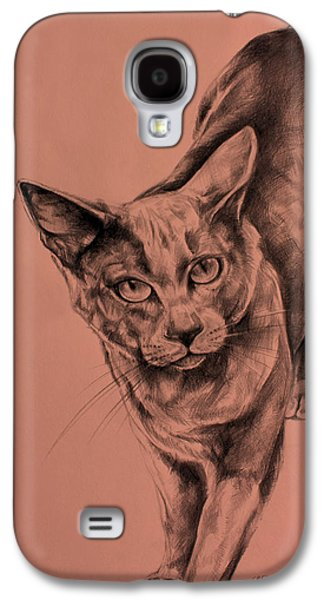 The Cat  Galaxy S4 Case by Derrick Higgins