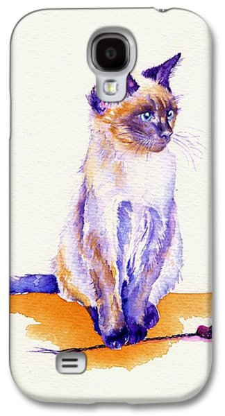 The Catmint Mouse Hunter Galaxy S4 Case by Debra Hall