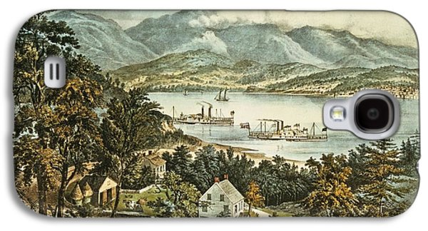 The Catskill Mountains From The Eastern Shore Of The Hudson Galaxy S4 Case by Currier and Ives