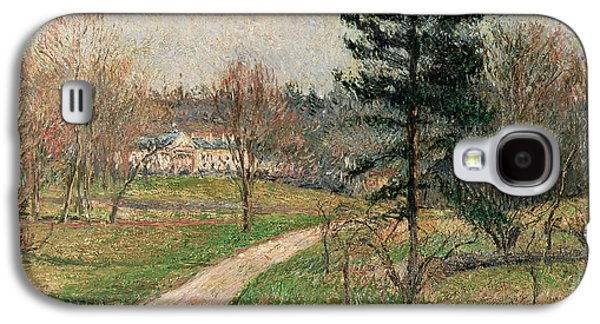 The Chateau At Busagny Galaxy S4 Case by Camille Pissarro