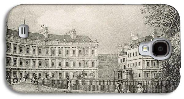 The Circus, Bath, C.1883 Galaxy S4 Case by R. Woodroffe