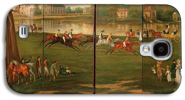The Clarence Gold Cup At Hampton, London The Start Galaxy S4 Case by Litz Collection