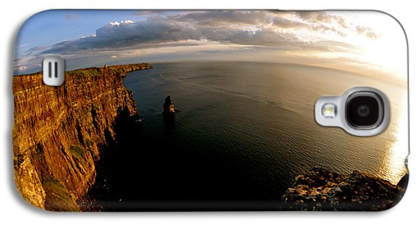 Mountain Sunset Galaxy S4 Case - The Cliffs by Keith Harkin